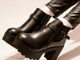 2014秋季爆款女士单靴 韩版圆头粗跟防水台马丁靴潮流女靴批发
