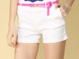 2014打底裤外穿糖果色多色薄款女夏季韩版显瘦休闲裤短裤热裤潮