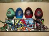 【乐美玩具】伙拼变形恐龙蛋拼装恐龙套模型玩具地摊广场玩具批发