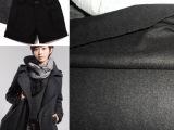 现货库存顺毛呢粗纺类面料适合做男女装外套裤子裙子麦呢布料