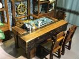 万达船木家具古船木茶几茶桌椅组合创意简约家具价格实惠