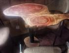 全新不规则树榴台,全手工木质桌