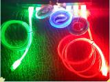 直销V8安卓三星智能手机发光数据线彩色面条充电线 USB流光笑脸