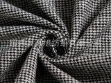 【生产厂家】韩版羊毛大衣呢面料 呢子布料 经典黑白多色千鸟格