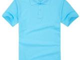 淘工厂 短袖T恤广告衫翻领 班服 涤棉6535来图来样来面料定做