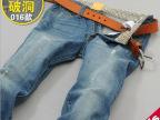 男式牛仔裤2014夏季薄款新款男装牛仔裤韩版小脚裤修身潮016