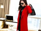 毛呢外套冬女长款 原创实拍韩版加厚呢子大衣 女冬装外套新款