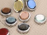 厂家直销 双面折叠水晶化妆镜  创意商务