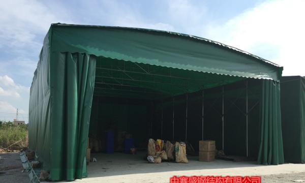 定做大排档推拉雨棚遮阳伸缩蓬移动仓库蓬折叠停车蓬活动帐篷