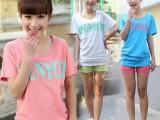 2014夏季女装印花蝙蝠袖短袖t恤女 韩版女装女t恤一件代发 代
