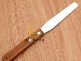 4寸抹刀 不锈钢木柄吻刀 烘焙奶油刮刀 裱花刀  厂家供应