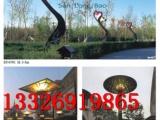 户外景观灯伞状孔雀开屏造型景观灯柱定做广场公园大型景观灯柱