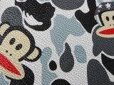 新款大嘴猴数码印花革 喷绘皮革箱包手袋皮