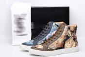 中国风水墨画复古特色个性潮流休闲板鞋运动户外男鞋 微信代发