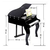 厂家批发 儿童钢琴带凳子 木制30键儿童玩具钢琴 摄影道具 升级款
