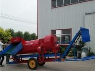 烟台拖拉机牵引式花生摘果机 自动装袋摘果机