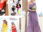2014夏季新款抹胸吊带波西米亚连衣裙 高端纯色雪纺沙滩长裙 特价
