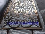 重庆别墅客厅金属屏风隔断装饰 定制拉丝玫瑰金屏风