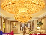 【艺峰灯饰】双层水晶灯 欧式客厅吸顶灯 LED圆形吊灯 卧室灯具
