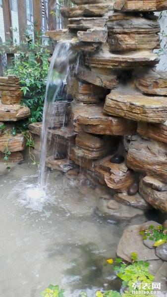 假山景观制作庭院鱼池设计私家庭院施工流水石头扬州