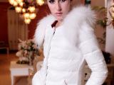 2013冬季新款超大毛领 中长款韩版羽绒服 女装羽绒衣外套 90
