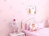 墙纸壁纸 HELLO KITTY猫卡通儿童房纯纸环保壁纸 女孩卧