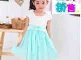 夏款新款韩版女童中大童肩花蕾丝网纱裙童裙童装一件待发代发代销