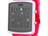 时刻美0987创意LED防水电子手表男女士时尚果冻学生热卖情侣手