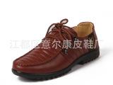 【厂家直销】男鞋真皮正品 头层软牛皮 系带时尚潮流款单鞋皮鞋
