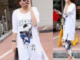 2014女装大码韩版长款宽松卡通人时尚短袖T恤 全棉