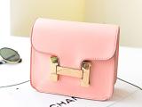 2014新款女包潮流欧美时尚潮包H字母糖果色单肩斜挎包迷你小包包
