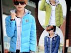 外贸青少年韩版男式棉衣新款连帽男士冬装外套棉袄羽绒棉服批发潮