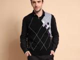 得益佳新款男士羊绒衫V领羊绒背心 纯羊绒毛衣 量身定做诚邀加盟