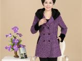中老年女装秋装  新款羊绒毛呢大衣大码妈妈装 中老年毛呢外套