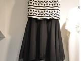 2014夏装新款大码雪纺连衣裙韩版 条纹中长款无袖背心裙