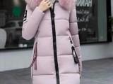 冬季女装新款棉服韩版羽绒棉毛领羽绒棉服批发