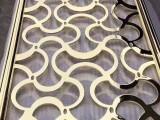 玫瑰金铝板雕刻镂空花格屏风隔断厂家