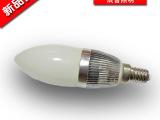 辰普照明LED蜡烛灯 玻璃蜡烛灯泡 蜡烛杯 E27螺口 3W水晶