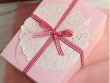 韩式烘焙包装纸盒 耳朵蛋糕盒 西点盒 饼干盒 粉色diy纸盒 1