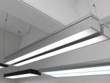 LED办公照明灯具t5吊线灯铝材办公吊灯现代照明灯具批发2*28