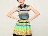 2012夏装新款裙子 短袖欧美风服装夏季连衣裙修身时尚雪纺连衣裙