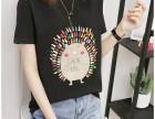 夏季新款韩版纯棉T恤女短袖修身显瘦破洞半袖体恤百搭上衣潮