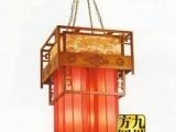 供应实木羊皮吊灯 中式吊灯 工程灯 量大
