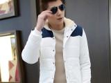 2014新款韩版时尚棉修身年轻阳光加绒毛领男式棉衣
