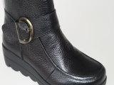 厂家直销真皮女鞋一件代发2014秋冬新款头层牛皮妈妈鞋高帮短靴