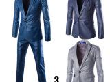 新款欧美印花一粒扣西服套装外套小西装礼服
