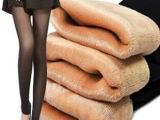 秋冬不倒绒假透肉踩脚裤袜双层无缝一体棉裤加绒加厚打底裤女批发