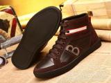 英伦时尚流行男鞋高帮鞋 耐磨橡胶底 真皮头层牛皮高帮板鞋男批发