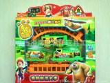 塑料电动轨道小火车熊出没电动玩具混批包邮澄海玩具厂家批发直销