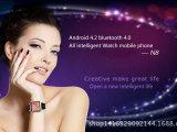 厂家直销N8智能手表手机 安卓4.2wifi双核插卡蓝牙3G腕表